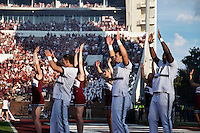 Game Day: MSU Football versus South Carolina. Pre-game on Scott Field.<br />  (photo by Megan Bean / &copy; Mississippi State University)