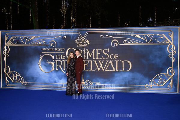 "LONDON, UK. November 13, 2018: Eddie Redmayne & Hannah Bagshawe at the ""Fantastic Beasts: The Crimes of Grindelwald"" premiere, Leicester Square, London.<br /> Picture: Steve Vas/Featureflash"