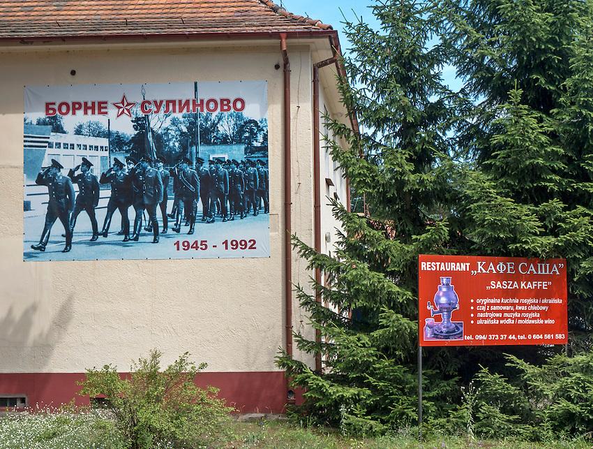 Dawna kantyna oficerska. Borne Sulinowo, była baza Północnej Grupy Wojsk Radzieckich