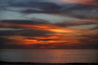 December 2, 2017 - San Diego, California, USA-  The sun sets at Windansea Beach in the La Jolla area of San Diego, California on Saturday, Dec. 3, 2017.   (Photo Credit: © K.C. ALFRED/ZUMA PRESS)