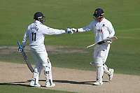 Murali Vijay (L) and Tom Westley add to their partnership for Essex during Nottinghamshire CCC vs Essex CCC, Specsavers County Championship Division 1 Cricket at Trent Bridge on 13th September 2018