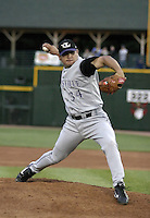 July 24, 2004:  Pitcher Juan Cerros of the Louisville Bats, Triple-A International League affiliate of the Cincinnati Reds, during a game at Frontier Field in Rochester, NY.  Photo by:  Mike Janes/Four Seam Images
