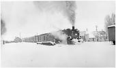 #484 making Dulce station stop with San Juan.<br /> D&amp;RGW  Dulce, NM  Taken by Richardson, Robert W. - 1/30/1951