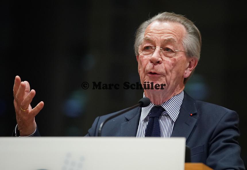 Ex-Bundesminister Franz Müntefering (SPD) bei seiner Rede zum Jubiläum der Generationenhilfe - Gross-Gerau 28.10.2019: Festakt zum Jubiläum der Generationenhilfe