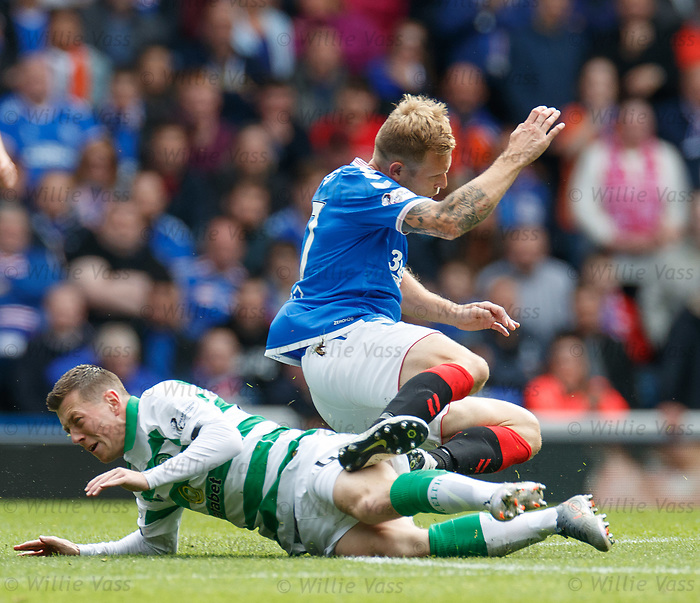 01.09.2019 Rangers v Celtic: Calum McGregor and Scott Arfield
