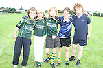 Jarlath Jones, Gerald Boylan, Karl Martin, Dylan Keating and Rowan Latimer at the Summer Camp in Boyne Rugby Football Club...Picture Jenny Matthews/Newsfile.ie