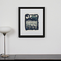 "D'Amore: ""Prague Chairs"", Digital Print, Image Dims. 14"" x 11"", Framed Dims. 23"" x 20.25"""