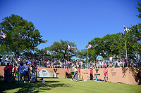 Kevin Chappell (USA) watches his tee shot on 17 during round 4 of the Valero Texas Open, AT&amp;T Oaks Course, TPC San Antonio, San Antonio, Texas, USA. 4/23/2017.<br /> Picture: Golffile | Ken Murray<br /> <br /> <br /> All photo usage must carry mandatory copyright credit (&copy; Golffile | Ken Murray)