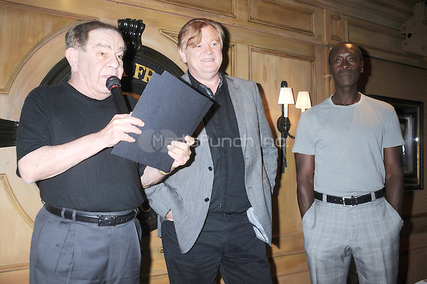 Freddie Roman, Brendan Gleeson and Don Cheadle attend the Friar's Comedy Film Festival Club Award presentation at the New York Friars Club on July 25, 2011 in New York City Credit: Dennis Van Tine/MediaPunch