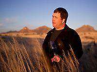 1/2/2011-Todd Bostock  of Dos Cabezas Wineworks in the high desert in Sonoita, Arizona. (Photo by Pat Shannahan)
