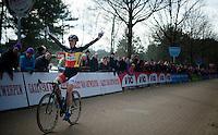 victory for Sanne Cant (BEL)<br /> <br /> Elite Women's Race<br /> Krawatencross <br /> bpost bank trofee 2015