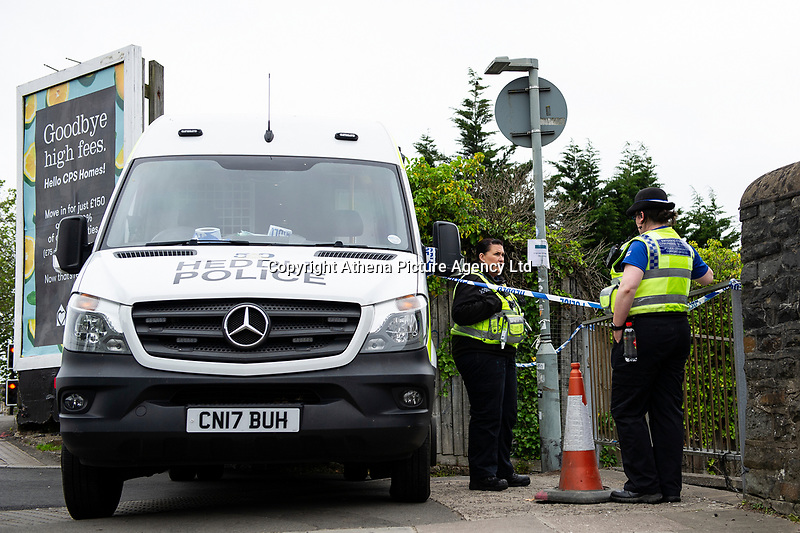 "Pictured: A general view of the crime scene at Cathays railway station in Cardiff, Wales, UK.  Monday 03 June 2019<br /> Re: The man who died following an incident in a lane near Cathays Railway Station has been named as 18-year-old Fahad Mohamed Nur.<br /> Officers were called to a lane adjacent to the railway line which links Park Place to Corbett Road at approximately 00:24hrs on Sunday, June 2 following reports that a man had been stabbed.<br /> Mr Nur, who is from Cardiff, was taken to the University Hospital of Wales, Cardiff, where he died from his injuries.<br /> His family is being supported by specially trained officers.<br /> No further action is being taken against two local men, aged 17 and 18, who were arrested in connection with the incident.<br /> They have been released from police custody.<br /> Officers are appealing for information, believing the area to be busy at the time of the incident.<br /> They would like to speak to anybody who may have witnessed the incident, or who may have seen anything suspicious before or after.<br /> Senior Investigating Officer, Detective Chief Inspector Mark O'Shea, from South Wales Police, said: ""A young man has tragically lost his life and we are doing all we can to identify and arrest those responsible for the murder of Fahad Mohamed Nur.<br /> ""A police cordon remains in place and we thank the local community for their support and patience while we continue our investigation."