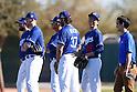 Brandon Beachy, Kenta Maeda (Dodgers),<br /> FEBRUARY 20, 2016 - MLB :<br /> Los Angeles Dodgers spring training baseball camp in Glendale, Arizona, United States. (Photo by AFLO)
