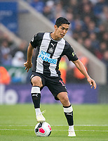 Yoshinori Muto of Newcastle United during the Premier League match between Leicester City and Newcastle United at the King Power Stadium, Leicester, England on 29 September 2019. Photo by Andy Rowland.