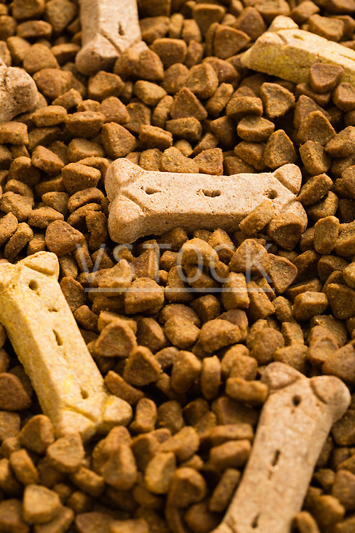 Dry dog food and dog biscuits