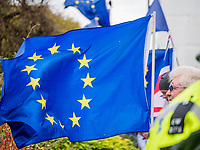 LONDON, ENGLAND - JANUARY 15: Europe flag on January 15, 2019 in London, England. Theresa May's Brexit deal finally reaches the House of Commons this evening and MPs will begin voting on it at 7pm. The Prime Minister has consistently said her's is the only deal that Brussels will entertain and urged support from Parliament to avoid the UK crashing out of the European Union with no deal. Photo Adamo Di Loreto