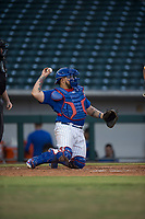 AZL Cubs 1 catcher Alexander Guerra (6) during an Arizona League game against the AZL Cubs 1 at Sloan Park on June 28, 2018 in Mesa, Arizona. The AZL Athletics defeated the AZL Cubs 1 5-4. (Zachary Lucy/Four Seam Images)