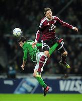 FUSSBALL   1. BUNDESLIGA   SAISON 2011/2012   23. SPIELTAG SV Werder Bremen - 1. FC Nuernberg                   25.02.2012 Zlatko Junuzovic (li, SV Werder Bremen) gegen Jens Hegeler (re, 1 FC. Nuernberg)