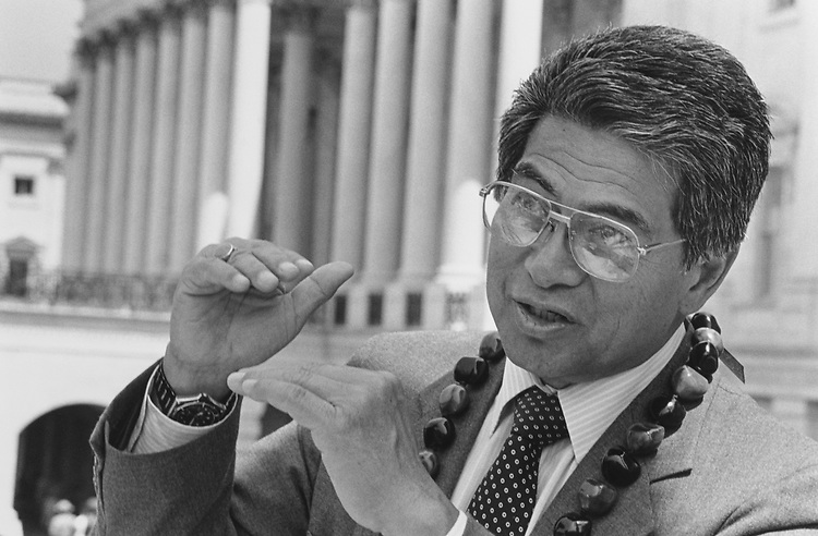 Rep. Daniel Akaka, D-Hawaii, in May 1990. (Photo by Laura Patterson/CQ Roll Call via Getty Images)