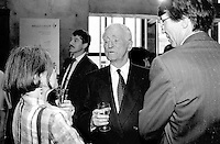 File Photo -Claude Ryan attend<br /> Montreal 350th anniversary kick off celebrations, May 17, 1992, at Place-d-armes,<br /> <br />  Photo :  Agence Quebec Presse- Pierre Roussel