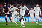 6th February 2019, Camp Nou, Barcelona, Spain; Copa del Rey football semi final, 1st leg, Barcelona versus Real Madrid; Vinicius Jr of Real Madrid and Karim Benzema of Real Madridbreqak together into attack for Real Madrid