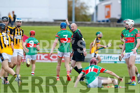 Mike Hennessy Referee.  Crotta O'Neills iv Abbeydorney/Tralee Parnells in the Minor Hurling County Final   at Austin Stack Park on Sunday.