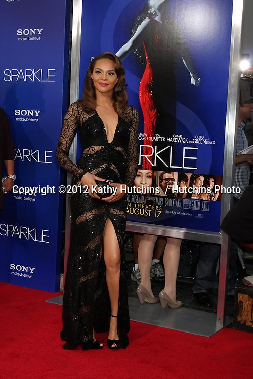 "Los Angeles - AUG 16:  Carmen Ejogo arrives at the ""Sparkle""  Premiere at Graumans Chinese Theater on August 16, 2012 in Los Angeles, CA"