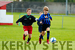David Grebowiec Inter Kenmare in action against Sahiry Khan Tralee Dynamos v in U13 Div 1 at Chahermoneen on Saturday.
