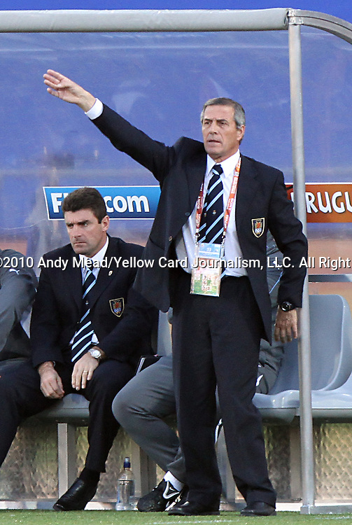 22 JUN 2010:  Uruguay head coach Oscar Tabarex (URU).  The Mexico National Team went dow to the Uruguay National Team 0-1 in the first half at Royal Bafokeng Stadium in Rustenburg, South Africa in a 2010 FIFA World Cup Group A match.