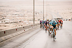 The peloton during Stage 3 of the Saudi Tour 2020 running 119km from King Saud University to Al Bujairi, Saudi Arabia. 6th February 2020. <br /> Picture: ASO/Pauline Ballet | Cyclefile<br /> All photos usage must carry mandatory copyright credit (© Cyclefile | ASO/Pauline Ballet)