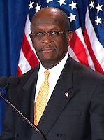 "AJ Alexander - 11-08-11, Herman Cain Defends Himself in a Press Confrence to dispute a sexual harassment allegations made by Sharon Bialek. He also accused the ""Democratic Machine"" of manufacturing the controversy, at the Scottsdale Plaza Resort, in Scottsdale Arizona, on Tuesday afternoon, November 08, 2011..Photo by AJ Alexander"