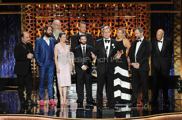 BEVERLY HILLS, CA - APRIL 11: The cast of Freeks and Geeks appears on the 2015 TV Land Awards at the Saban Theater on April 11, 2015 in Beverly Hills, California. FMPG/MediaPunch