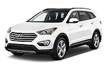 2014 Hyundai Santa Fe GLS 5 Door SUV Angular Front stock photos of front three quarter view