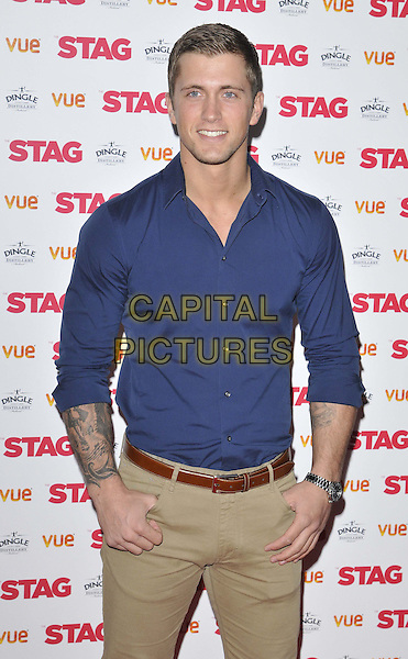 LONDON, ENGLAND - MARCH 13: Dan Osborne attends the &quot;The Stag&quot; gala film screening, Vue West End cinema, Leicester Square, on Thursday March 13, 2014 in London, England, UK.<br /> CAP/CAN<br /> &copy;Can Nguyen/Capital Pictures