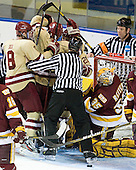- The Boston College Eagles defeated the University of Minnesota Duluth Bulldogs 4-0 to win the NCAA Northeast Regional on Sunday, March 25, 2012, at the DCU Center in Worcester, Massachusetts.