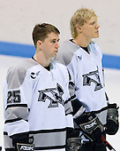 Matt Germain (Providence 25), Jordan Kremyr (Providence 20) - The Boston College Eagles and Providence Friars played to a 2-2 tie on Saturday, March 1, 2008 at Schneider Arena in Providence, Rhode Island.