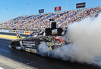 Jul, 8, 2011; Joliet, IL, USA: NHRA funny car driver Cruz Pedregon during qualifying for the Route 66 Nationals at Route 66 Raceway. Mandatory Credit: Mark J. Rebilas-