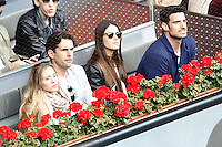 Spanish actress Patricia Montero and her husband the actor Alex Adrover with the ex football player Aitor Ocio (r) and his girlfriend during Madrid Open Tennis 2016 Semifinal match.May, 7, 2016.(ALTERPHOTOS/Acero) /NortePhoto.com