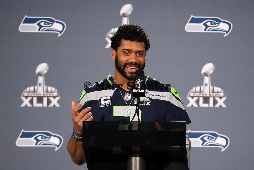 QB Russell Wilson (Seahawks)- Super Bowl XLIX Seattle Seahakws Team-PK, Arizona Grand Hotel