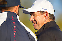 Padraig Harrington (Vice-Captain Team Europe) during the Saturday morning Foursomes at the Ryder Cup, Hazeltine national Golf Club, Chaska, Minnesota, USA.  01/10/2016<br /> Picture: Golffile | Fran Caffrey<br /> <br /> <br /> All photo usage must carry mandatory copyright credit (&copy; Golffile | Fran Caffrey)