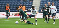 Newcastle United's Federico Fernandez is tackled by Preston North End's Sean Maguire<br /> <br /> Photographer Stephen White/CameraSport<br /> <br /> Football Pre-Season Friendly - Preston North End v Newcastle United - Saturday July 27th 2019 - Deepdale Stadium - Preston<br /> <br /> World Copyright © 2019 CameraSport. All rights reserved. 43 Linden Ave. Countesthorpe. Leicester. England. LE8 5PG - Tel: +44 (0) 116 277 4147 - admin@camerasport.com - www.camerasport.com
