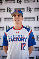 Shawn Triplett (12) of Ridgeline High School in Providence, Utah during the Baseball Factory All-America Pre-Season Tournament, powered by Under Armour, on January 12, 2018 at Sloan Park Complex in Mesa, Arizona.  (Zachary Lucy/Four Seam Images)