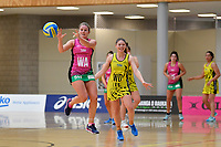 Southern Blast&rsquo;s Zoey Flockton in action during the Beko Netball League - Central Manawa v Southern Blast at ASB Sports Centre, Wellington, New Zealand on Sunday 12 May 2019. <br /> Photo by Masanori Udagawa. <br /> www.photowellington.photoshelter.com