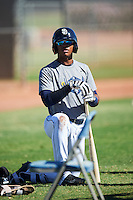 San Diego Padres Luis Almanzar (14) during an Instructional League camp day on October 4, 2016 at the Peoria Sports Complex in Peoria, Arizona.  (Mike Janes/Four Seam Images)