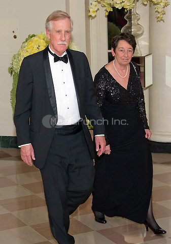 United States Senator Angus King (Independent of Maine) Kathryn Rand<br /> arrive for the State Dinner in honor of Prime Minister Trudeau and Mrs. Sophie Gr&Egrave;goire Trudeau of Canada at the White House in Washington, DC on Thursday, March 10, 2016.<br /> Credit: Ron Sachs / Pool via CNP/MediaPunch