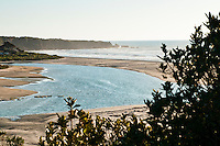 Rivermouth of Pororari River in Punakaiki - Paparoa National Park, West Coast, New Zealand