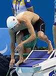 Rio de Janeiro-9/9/2016-Jean-Michel Lavalliere competes in the men's 50m freestyle during the swimming  at the 2016 Paralympic Games in Rio. Photo Scott Grant/Canadian Paralympic Committee