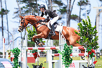 NZL-Sophie Alexander rides World Famous during the CCI1*J Showjumping (Final-). 2016 NZL-Puhinui International 3 Day Event. Puhinui Reserve, Auckland. Sunday 11 December. Copyright Photo: Libby Law Photography