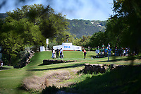 Jon Rahm (ESP) watches his tee shot on 11 during round 2 of the World Golf Championships, Dell Technologies Match Play, Austin Country Club, Austin, Texas, USA. 3/23/2017.<br /> Picture: Golffile | Ken Murray<br /> <br /> <br /> All photo usage must carry mandatory copyright credit (&copy; Golffile | Ken Murray)
