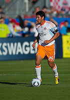 01 July 2010:  Houston Dynamo forward Brian Ching #25 in action during a game between the Houston Dynamo and the Toronto FC at BMO Field in Toronto..Final score was 1-1....